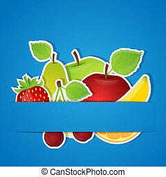 Set of fruits. Vector illustration.