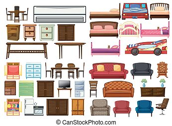 Set of funiture objects