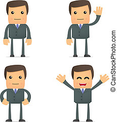 funny cartoon businessman - set of funny cartoon businessman...