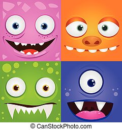 cartoon expression monsters