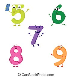 Set of funny characters from numbers 2.