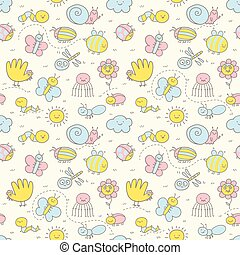 Seamless pattern for Baby