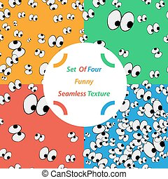 Set of funny seamless pattern