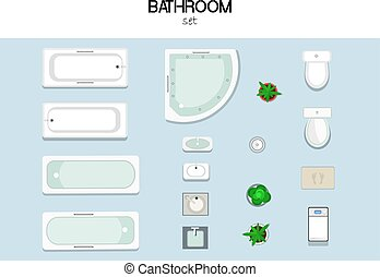 set of furniture - vector set of furniture for the bathroom...