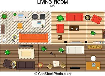 set of furniture - vector set of furniture for the living...