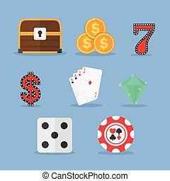 Set of Gambling & Slot Machine Icon