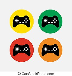 set of game icons, computer game