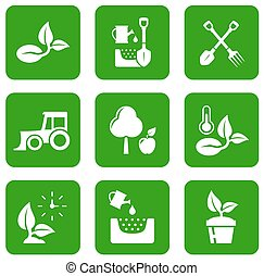 garden green icons