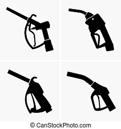 Gas pump pistols