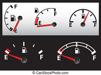 set of Gas Tank Illustration