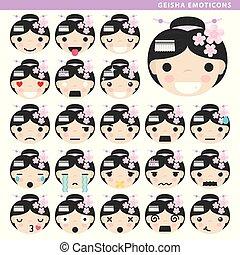 geisha emoticons