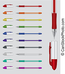 Set of gel pens