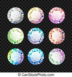 Set of gems. Diamond set