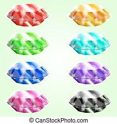 Set of gems