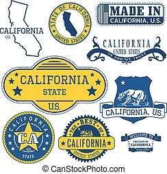 generic stamps and signs of California State