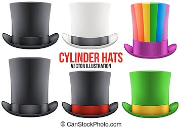 Set of gentleman hat cylinder
