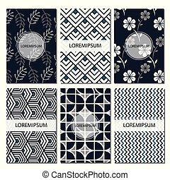 Set of geomatric patterns , abstract design poster, cover,...