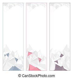 Set of Geometric Banners