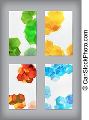 Set of  geometric banners for modern design.