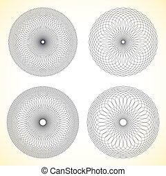 Set of geometric circle elements