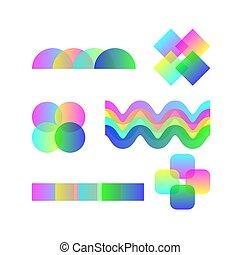 gradient minimal vector shapes