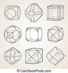 Set of geometric crystals.