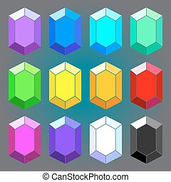 Set of geometric diamonds