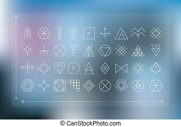 Set Of Geometric Hipster Shapes