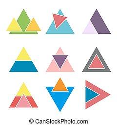 Set of geometric logotypes. Design elements