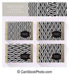 Set of geometric seamless pattern 10