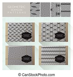 Set of geometric seamless pattern 2