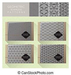 Set of geometric seamless pattern 3