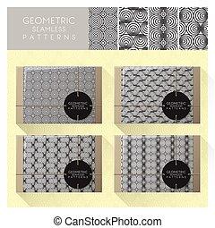 Set of geometric seamless pattern 4