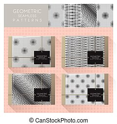 Set of geometric seamless pattern 5