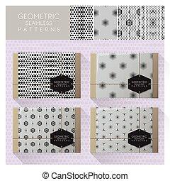 Set of geometric seamless pattern 6
