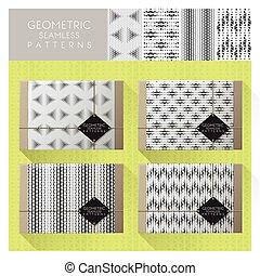 Set of geometric seamless pattern 7