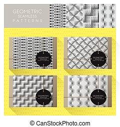 Set of geometric seamless pattern 8