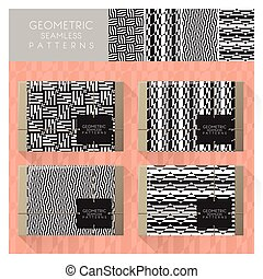 Set of geometric seamless pattern 9