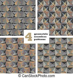 Set of geometric seamless pattern. Abstract