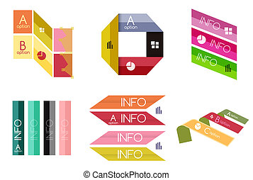 Set of geometric shapes - business banners
