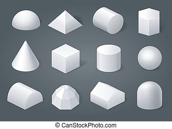 Set of geometric shapes - Set of different geometric shapes...