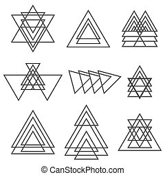 Set of geometric shapes. Trendy geometric icons