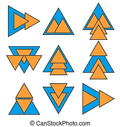 Set of geometric shapes. Trendy logotypes