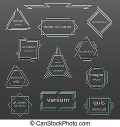 Set of geometric vintage labels, logos, icons.