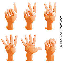 set of gesture arm for account vector illustration isolated...