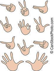 set of gestures