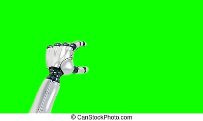 set of gestures with the robot left hand, showing the uses...