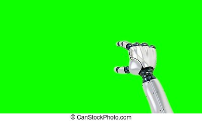 set of gestures with the robot right hand, showing the uses...