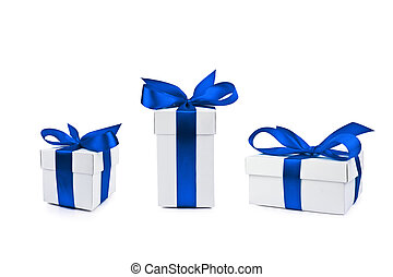 set of gift boxes on white background - set of gift box...