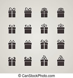 Set of gift boxes, vector illustration